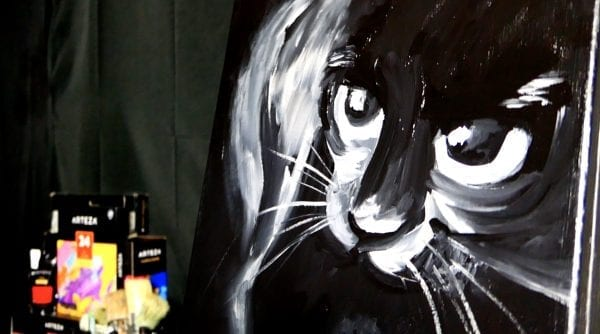 BLACK CAT | ACRYLIC PAINTING TECHNIQUES| DRANITSIN