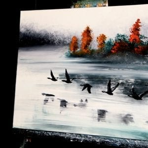 FLYING SOUTH | ACRYLIC PAINTING TECHNIQUES | DRANITSIN0