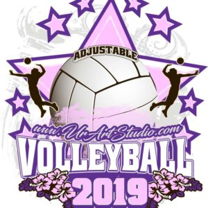 VOLLEYBALL ADJUSTABLE LOGO DESIGN EPS, AI, PDF 016