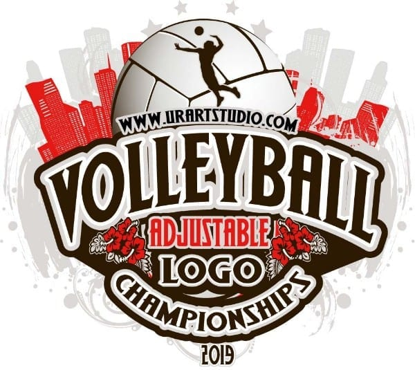 VOLLEYBALL ADJUSTABLE LOGO DESIGN EPS, AI, PDF 017