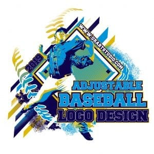 BASEBALL ADJUSTABLE VECTOR LOGO DESIGN FOR PRINT - AI, EPS, PDF, PSD, 501
