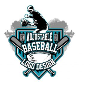 BASEBALL ADJUSTABLE VECTOR LOGO DESIGN FOR PRINT - AI, EPS, PDF, PSD, 503