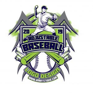 BASEBALL ADJUSTABLE VECTOR LOGO DESIGN FOR PRINT - AI, EPS, PDF, PSD, 505