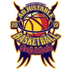 BASKETBALL ADJUSTABLE VECTOR LOGO DESIGN FOR PRINT AI EPS PDF PSD 502