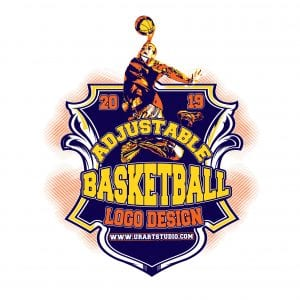 BASKETBALL ADJUSTABLE VECTOR LOGO DESIGN FOR PRINT AI EPS PDF PSD 503
