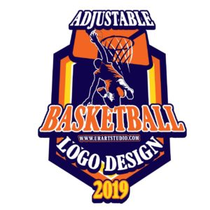 BASKETBALL ADJUSTABLE VECTOR LOGO DESIGN FOR PRINT AI EPS PDF PSD 504