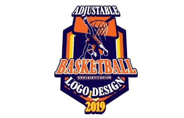 BASKETBALL ADJUSTABLE VECTOR LOGO DESIGN FOR PRINT AI EPS PDF PSD 504