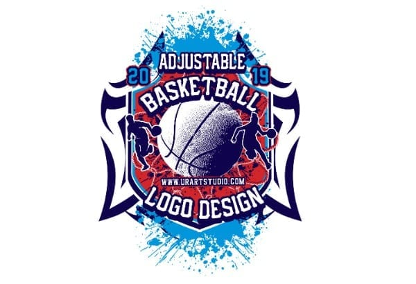 BASKETBALL ADJUSTABLE VECTOR LOGO DESIGN FOR PRINT AI EPS PDF PSD 505