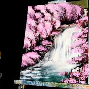 BLOSSOM-WATERFALL-ACRYLIC-PAINTING-TECHNIQUES-DRANITSIN0