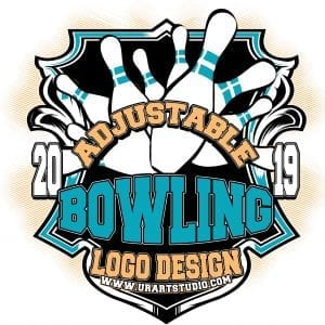 BOWLING ADJUSTABLE VECTOR LOGO DESIGN FOR PRINT AI EPS PDF 503