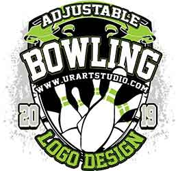 BOWLING ADJUSTABLE VECTOR LOGO DESIGN FOR PRINT AI EPS PDF 501