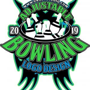 BOWLING ADJUSTABLE VECTOR LOGO DESIGN FOR PRINT AI EPS PDF PSD 502