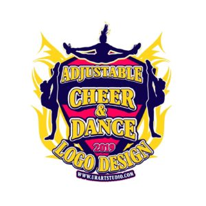 CHEER AND DANCE ADJUSTABLE VECTOR LOGO DESIGN FOR PRINT AI EPS PDF PSD 502