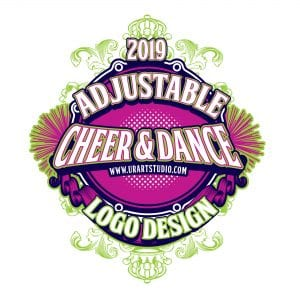 CHEER AND DANCE ADJUSTABLE VECTOR LOGO DESIGN FOR PRINT AI EPS PDF PSD 505