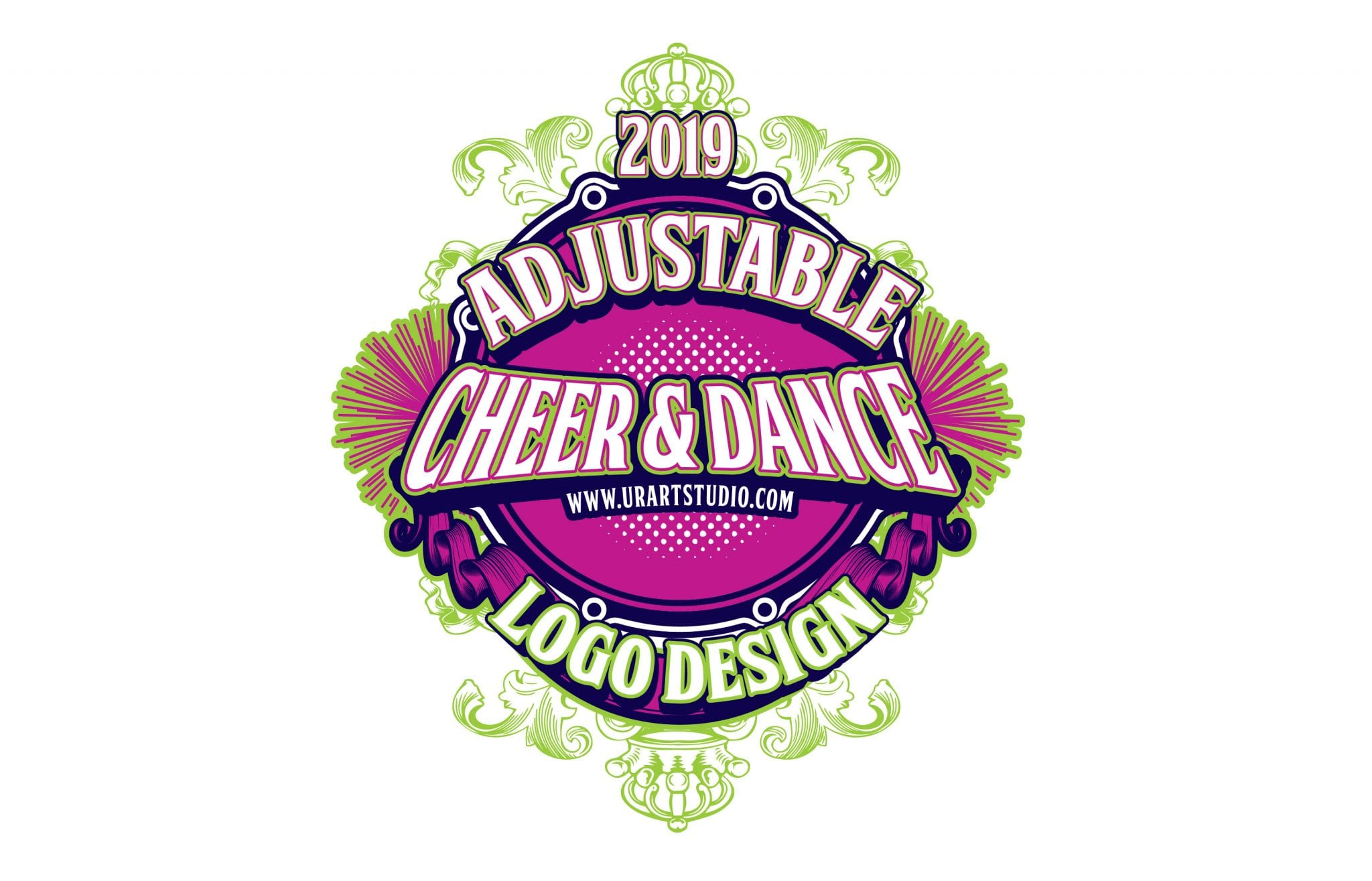 Cheer and dance adjustable vector logo design for print ai eps pdf psd 505 urartstudio logos paintings art lessons