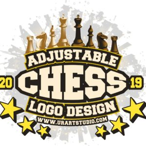 CHESS TOURNAMENT ADJUSTABLE VECTOR LOGO DESIGN FOR TSHIRT EPS PDF 504