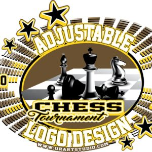 CHESS TOURNAMENT ADJUSTABLE VECTOR LOGO DESIGN FOR TSHIRT EPS PDF AI 001