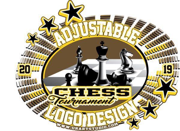 CHESS TOURNAMENT ADJUSTABLE VECTOR LOGO DESIGN FOR TSHIRT EPS PDF AI 001