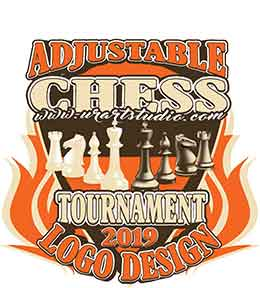 CHESS TOURNAMENT ADJUSTABLE VECTOR LOGO DESIGN FOR TSHIRT EPS PDF AI 002