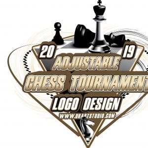 CHESS TOURNAMENT ADJUSTABLE VECTOR LOGO DESIGN FOR TSHIRT EPS PDF AI 503