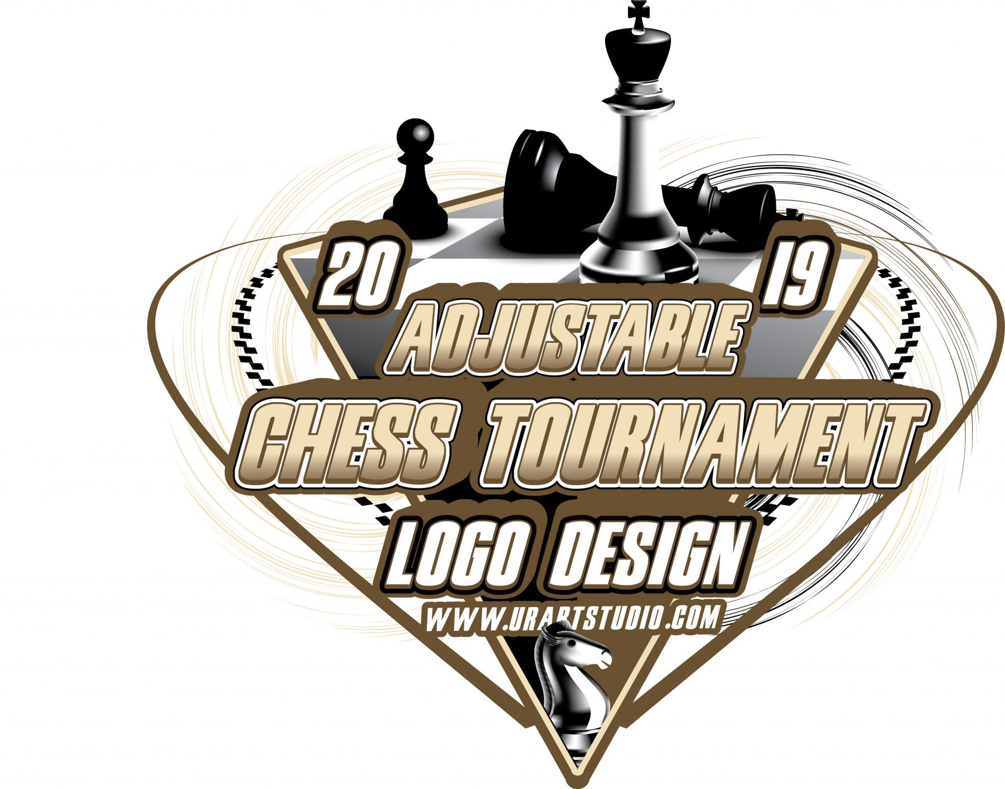 Chess Tournament Adjustable Vector Logo Design For Tshirt