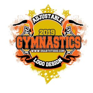 GYMNASTICS VECTOR LOGO DESIGN for PRINT AI-EPS-PDF-PSD 503