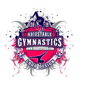 GYMNASTICS VECTOR LOGO DESIGN for PRINT AI-EPS-PDF-PSD 505