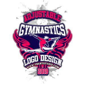 GYMNASTICS VECTOR LOGO DESIGN FOR PRINT AI EPS PDF PSD 501