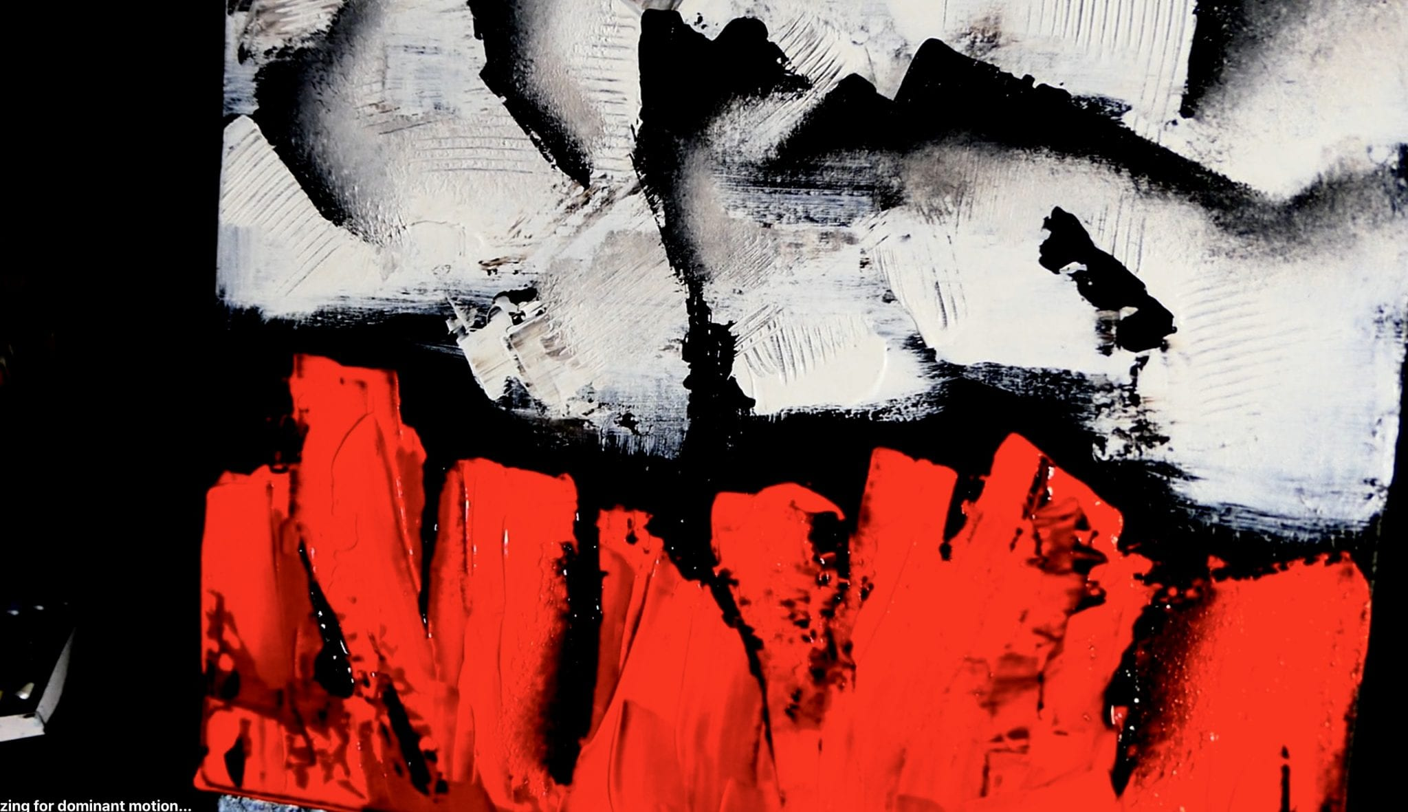Red Black Andwhite Abstract Art