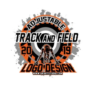 TRACK AND FIELD VECTOR LOGO DESIGN FOR PRINT AI EPS PDF PSD 502