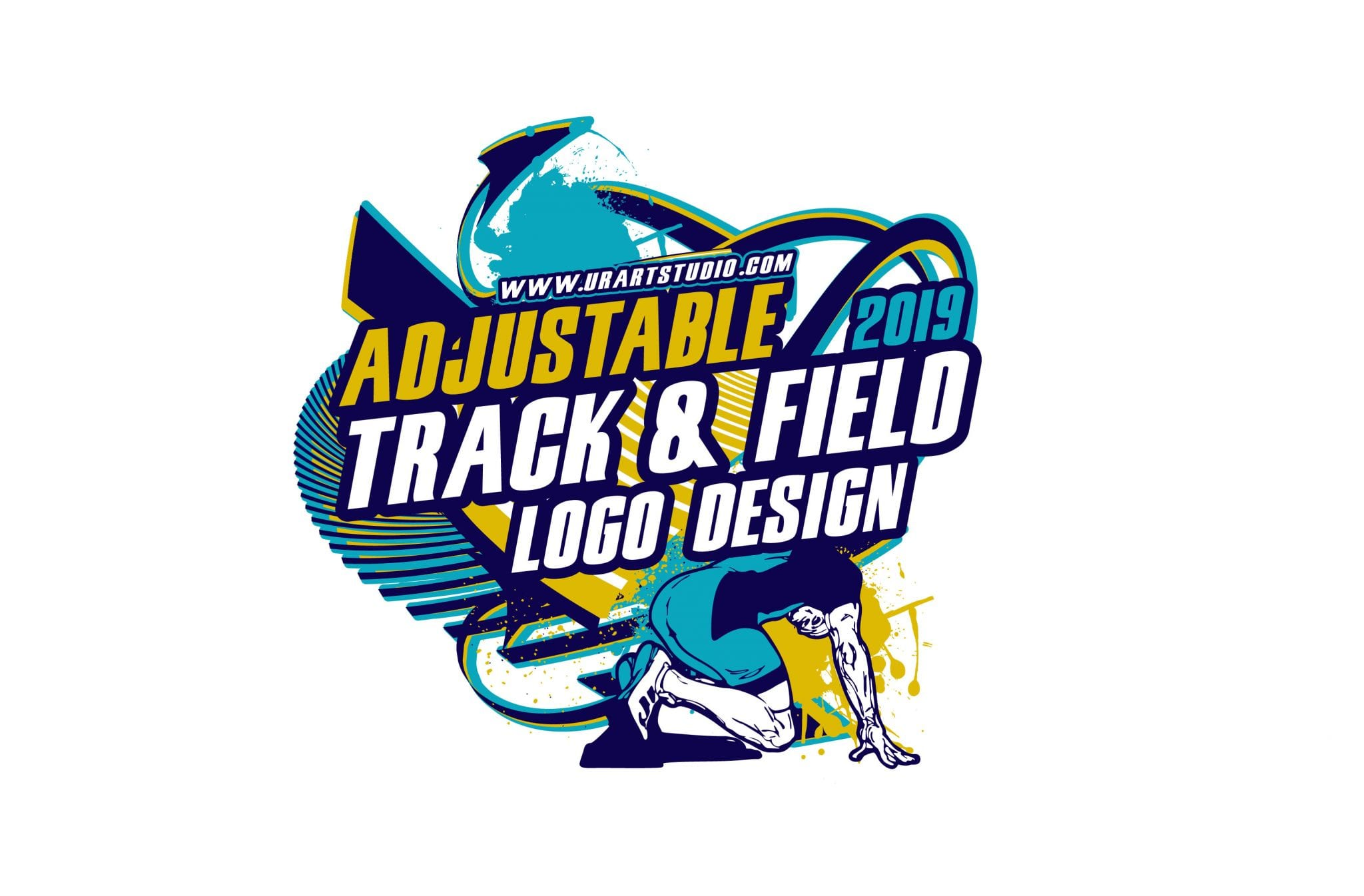 Track and field vector logo design for print ai eps pdf psd 504 urartstudio logos paintings art lessons