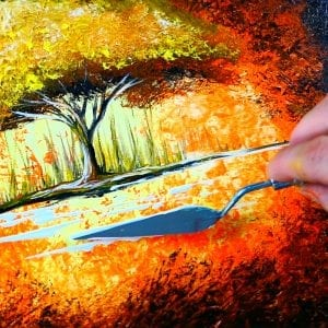 Color of Heat   Abstract Landscape Painting   Acrylic   Step by Step Demo   030