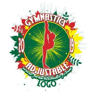 GYMNASTICS ADJUSTABLE LOGO DESIGN 674