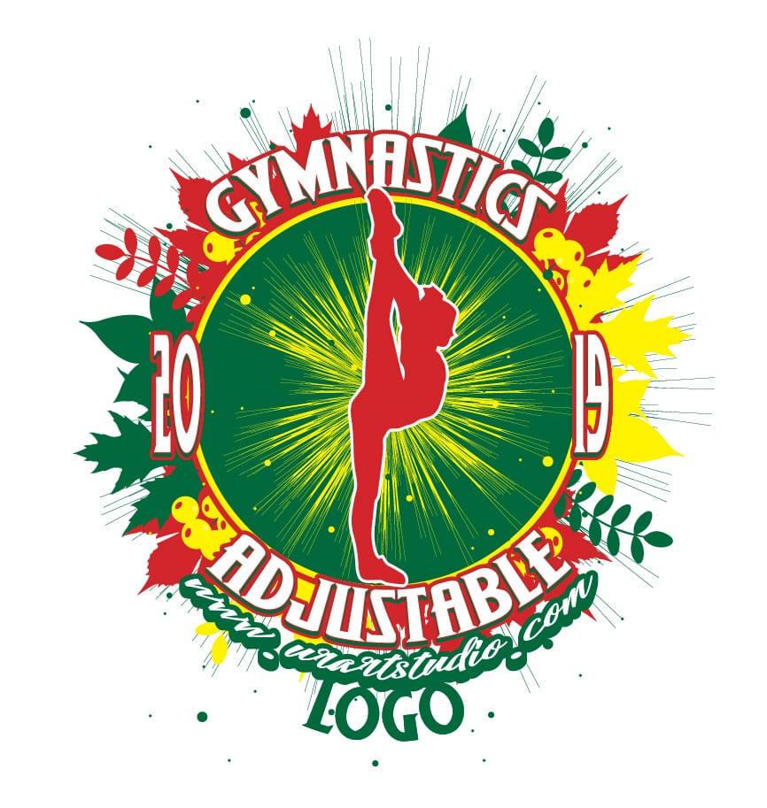 GYMNASTICS ADJUSTABLE LOGO DESIGN 674
