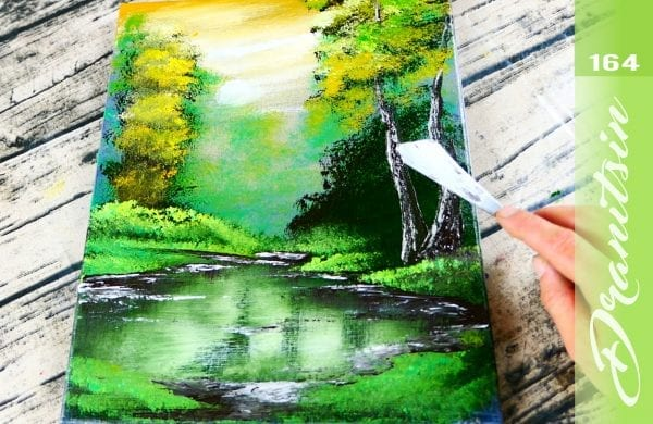 EXCLUSIVE, enjoyable acrylic landscape painting techniques - SWAMPY PLACE - 164
