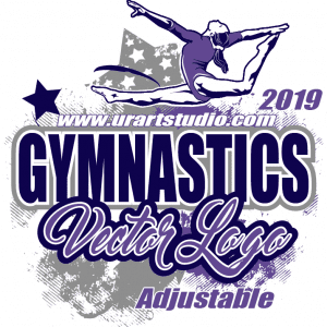 Adjustable gymnastics logo design 2019