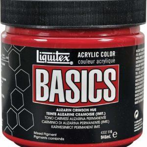 alizarin crimson basics acrylics 32oz