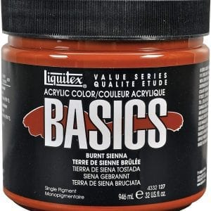 Burnt Sienna acrylic paint 32oz Basics