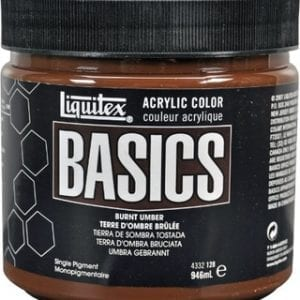 Burnt Umber acrylic paint 32oz Basics