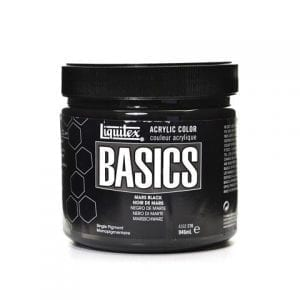 mars black acrylics paint 32oz basics