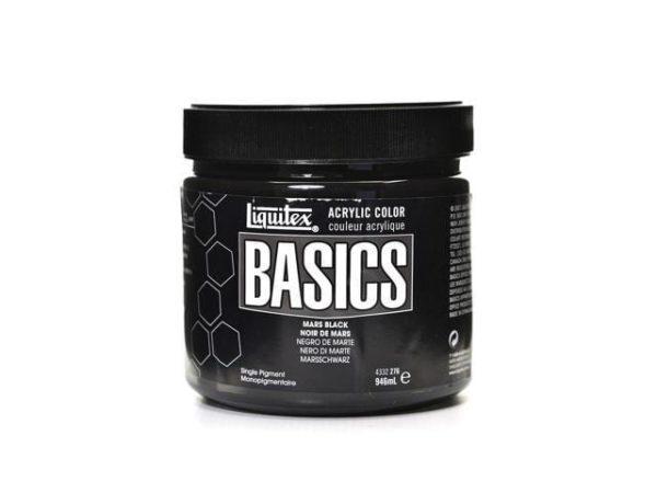 mars black acrylics paint 32oz basics