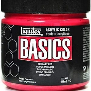 primary red basics acrylics 32oz