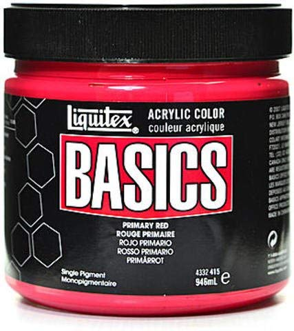 primary red basics acrylics 32oz