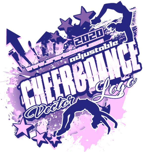 CHEER AND DANCE Adjustable Vector Logo Design with Live Font 301