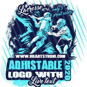 LACROSSE Adjustable Vector Logo Design with Live Font 301