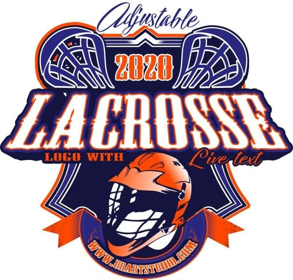 LACROSSE Adjustable Vector Logo Design with Live Font 304