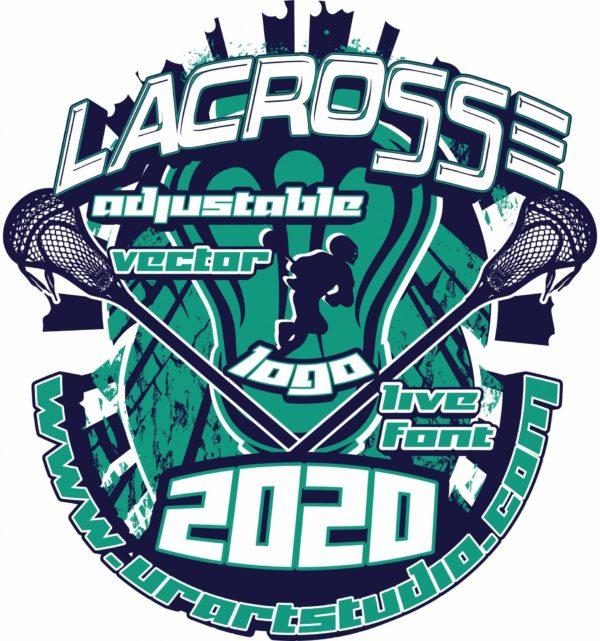 LACROSSE Adjustable Vector Logo Design with Live Font 306