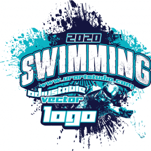 SWIMMING Adjustable Vector Logo Design with Live Font 307
