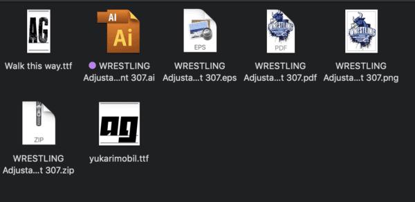 WRESTLING Adjustable Vector Logo Design with Live Font 307
