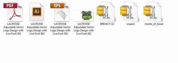 LACROSSE Adjustable Vector Logo Design with Live Font 302